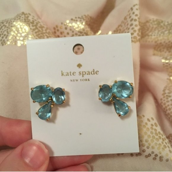kate spade Jewelry - kate spade blue stud earrings nwt
